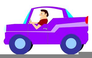 Men Driving Car Clipart