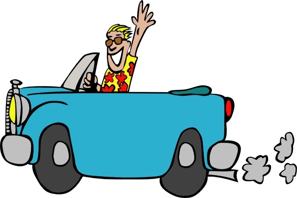 Man Driving Car clip art Free vector in Open office drawing