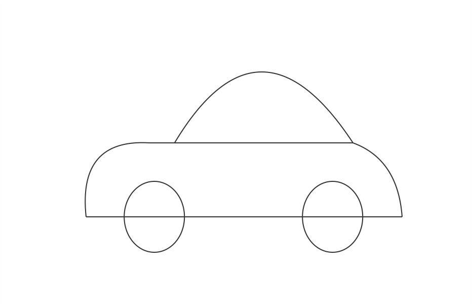 Free Black And White Car Drawings, Download Free Clip Art