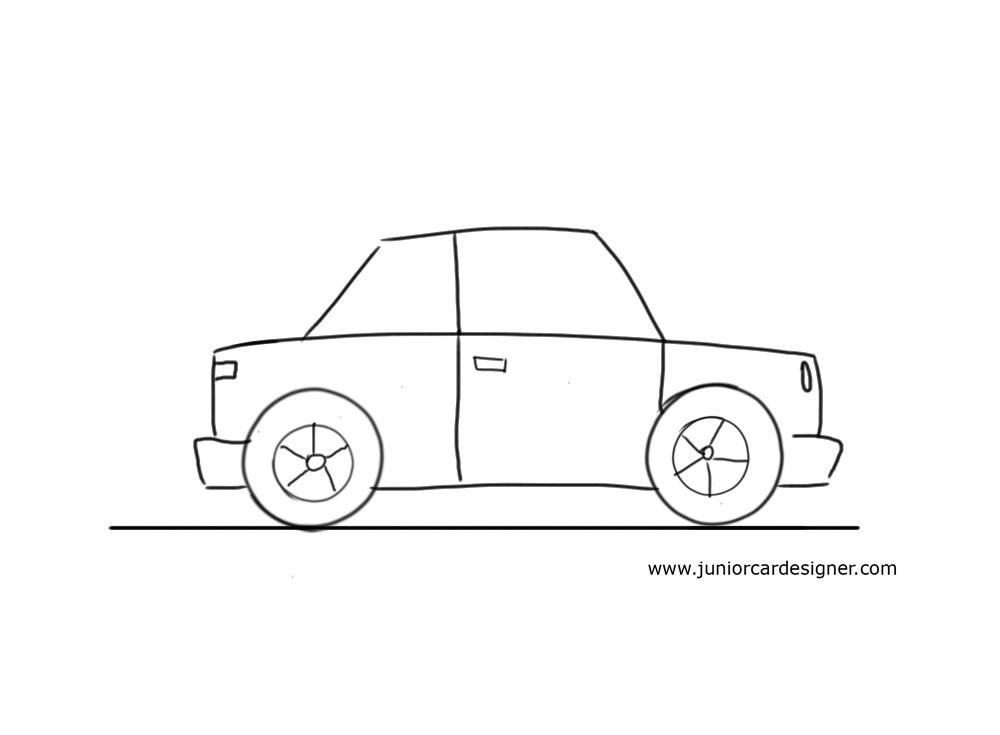 Very Easy Car To Draw For Little Kids in