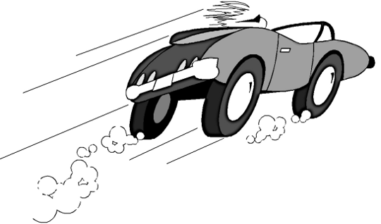 Speeding car clipart.