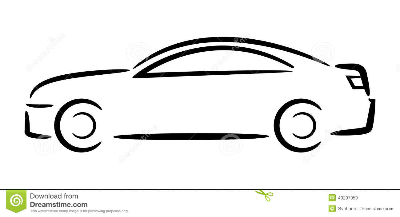 Car clipart outline, Car outline Transparent FREE for