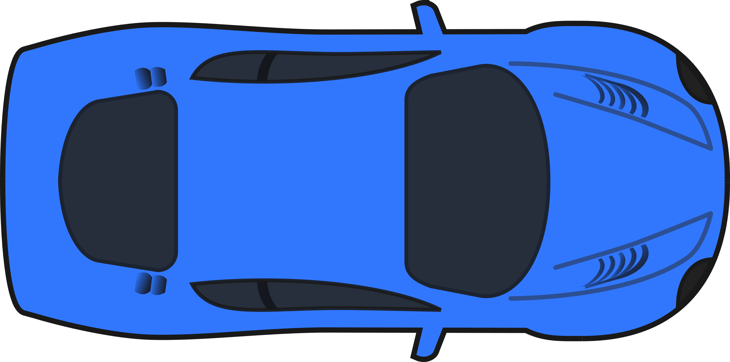 Car clipart overhead