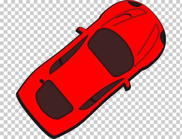 Sports car overhead.