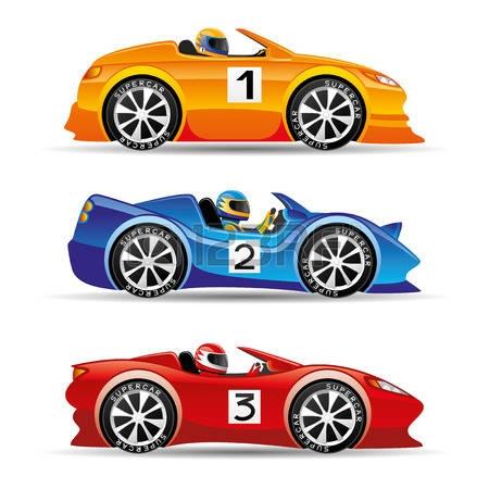 Race car red racing car clipart
