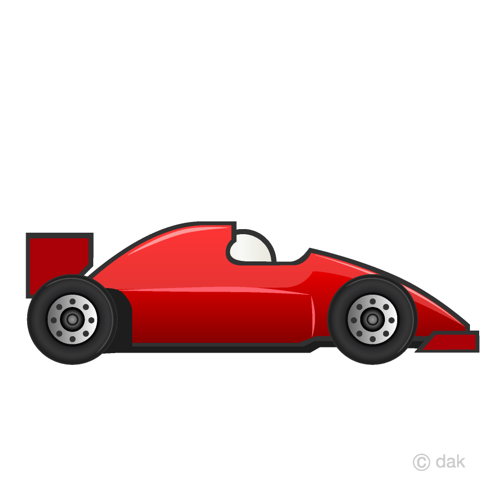 Free Red Racing Car Clipart Image