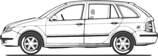 Car Compact Fabia Side View clip art Free vector in Open