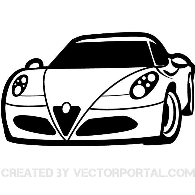 RACING CAR CLIP ART VECTOR