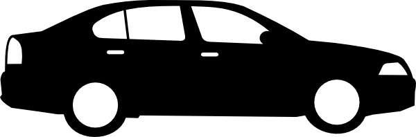 Black Sedan Car clip art Free vector in Open office drawing