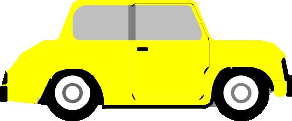 Bright Yellow Car Clip Art at Clker