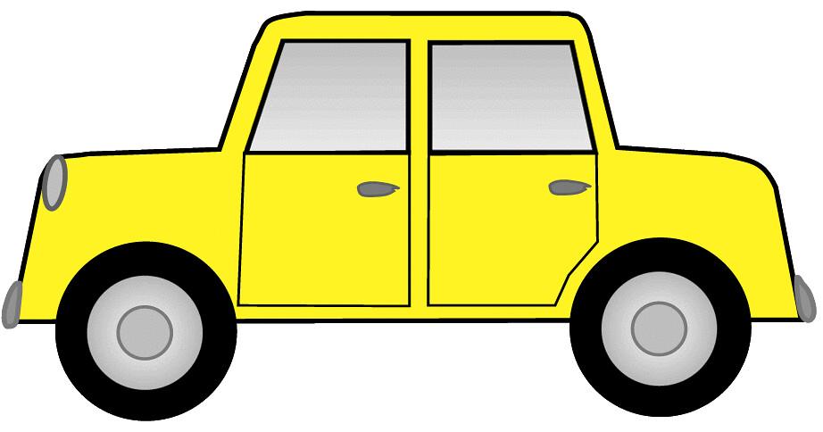 Yellow car sketch.