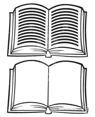 Cartoon open book.