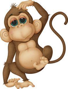 Cartoon monkey clipart pinterest. Learning friends baby animal