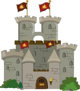 castle clipart vector
