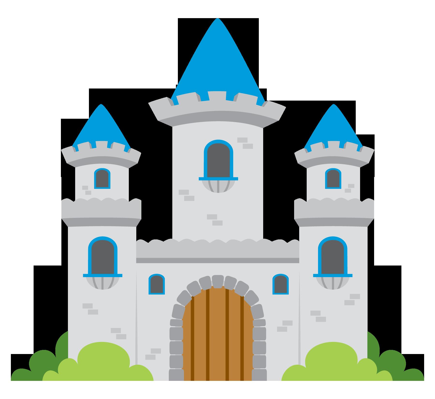 castle clipart blue