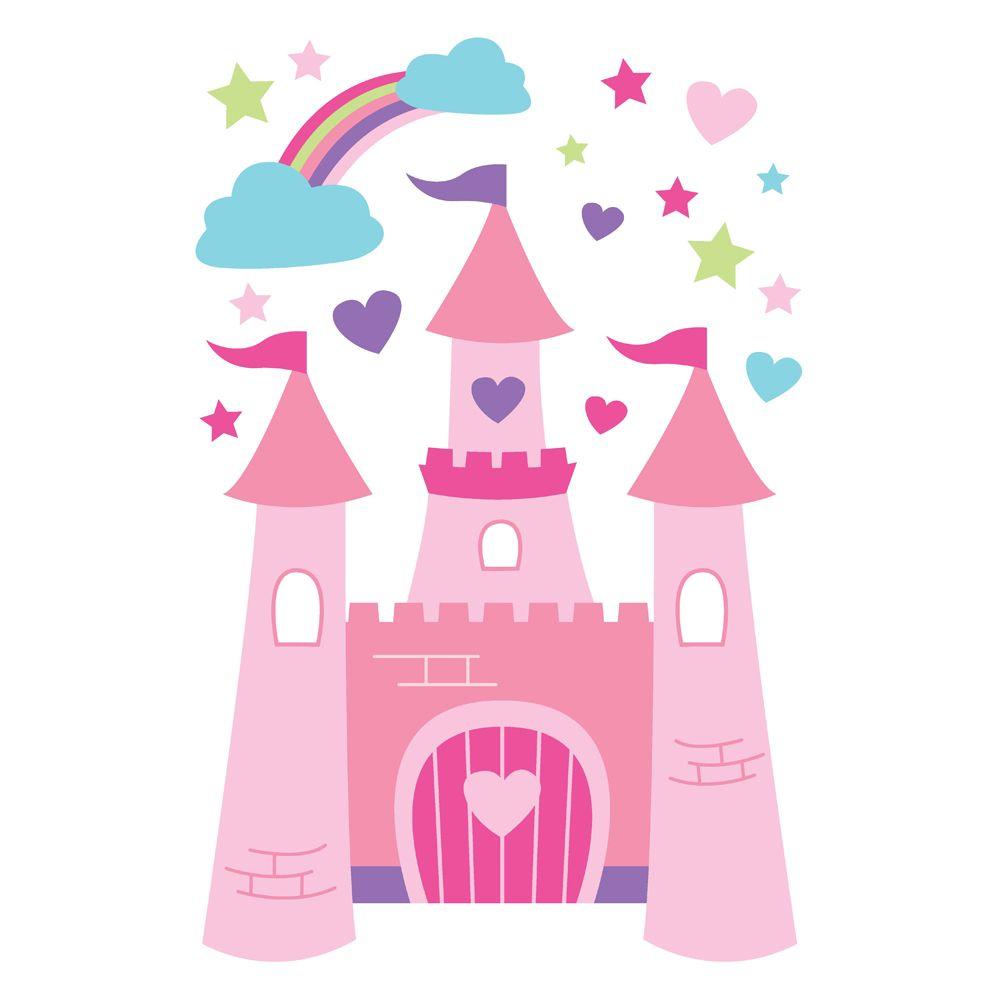 castle clipart colorful
