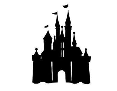 castle clipart silhouette
