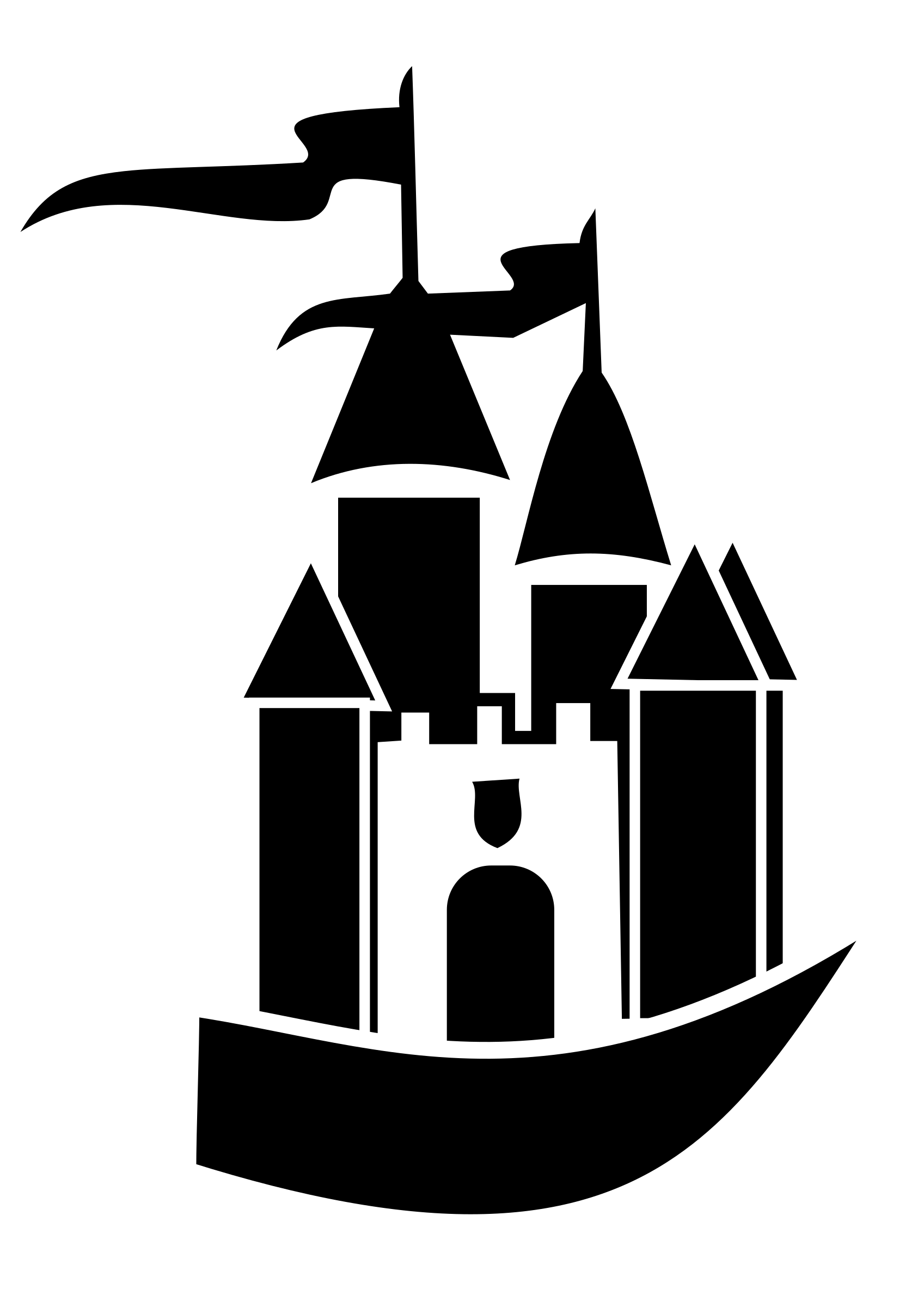 Castle of time vector clipart image