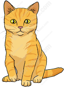 Orange Tabby Cat Clipart