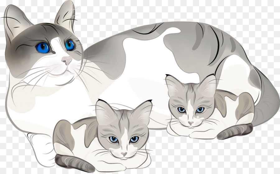 Cat background clipart.