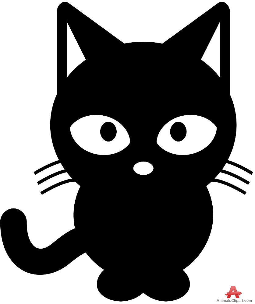 Cat black and white black cat clipart cat sleep pencil and