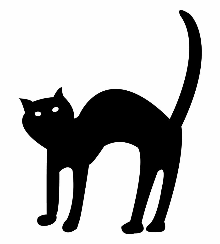 Halloween Black Cat Vector Free Transparent Background