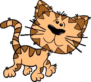 Cartoon cat walking.