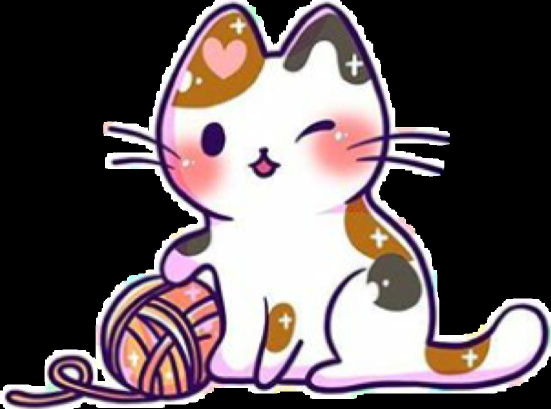 Clipart cat chibi.