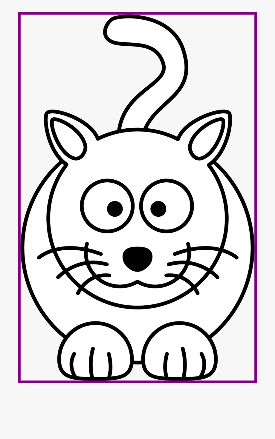 Best Cat Face Clipart Black And White Pic Of Kitten