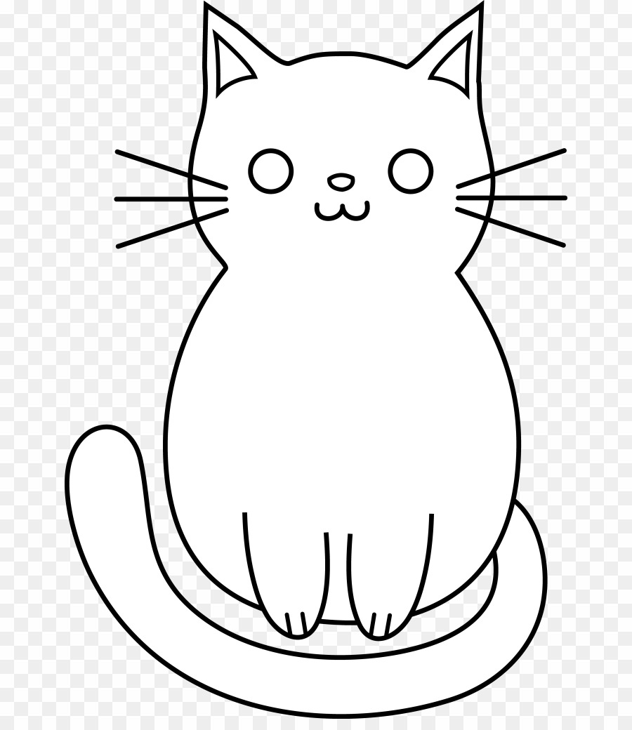 Easy Cat Draw For Kids PNG Cat Drawing Clipart download