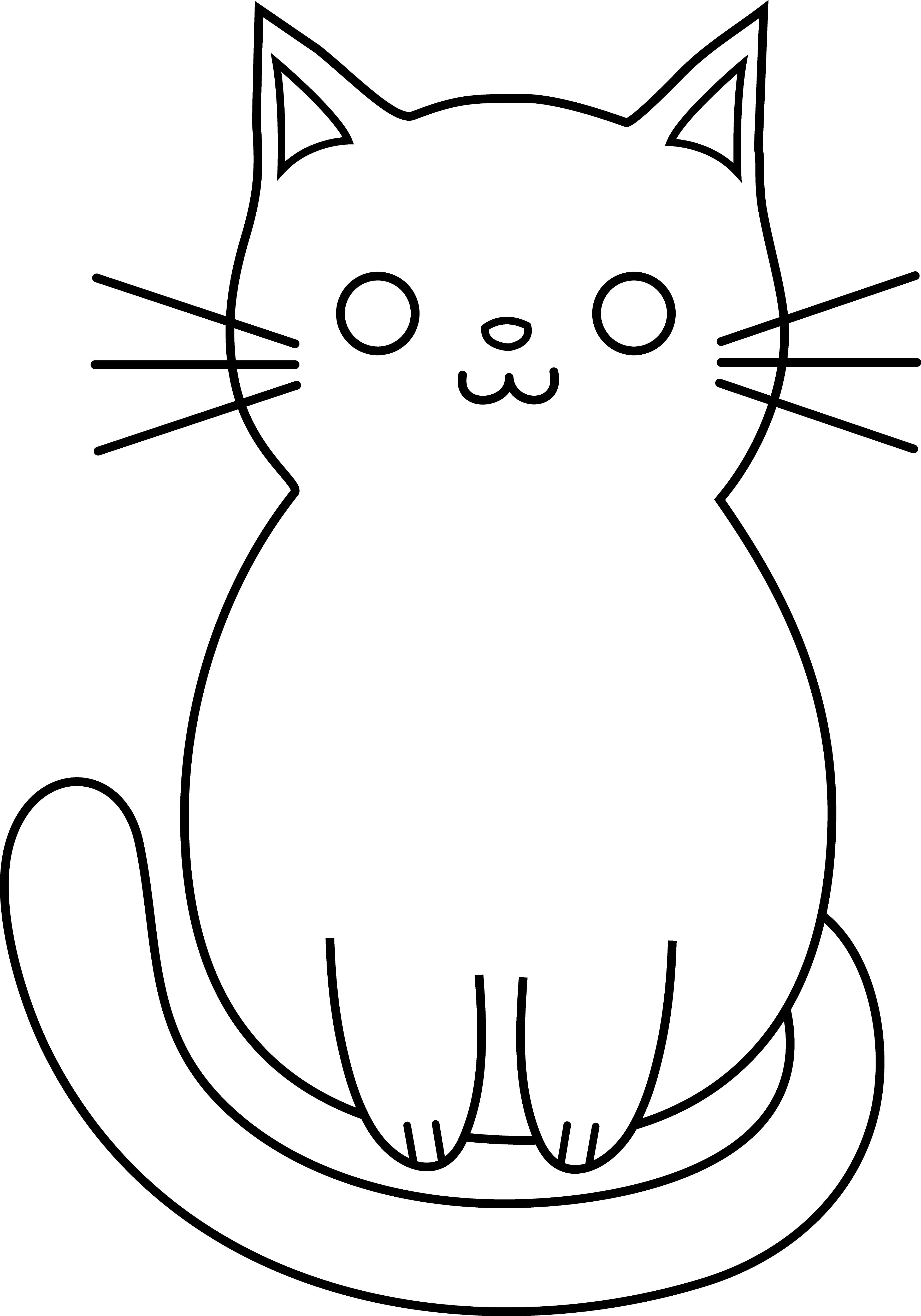 Easy cat drawing.
