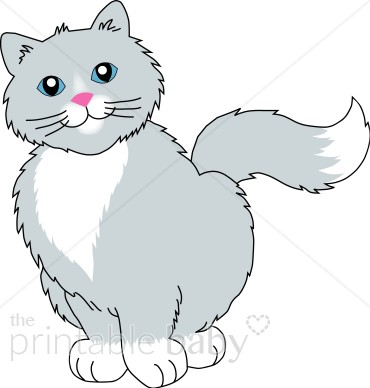 Gray smiling cat.