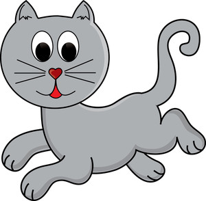 Free Playful Cat Clipart Image