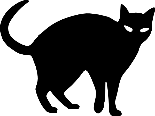 Halloween cat outline