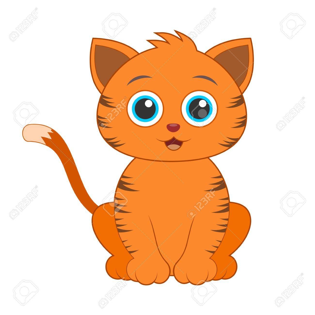 Cat orange cliparts.