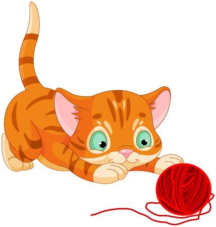 Cats playing clipart.