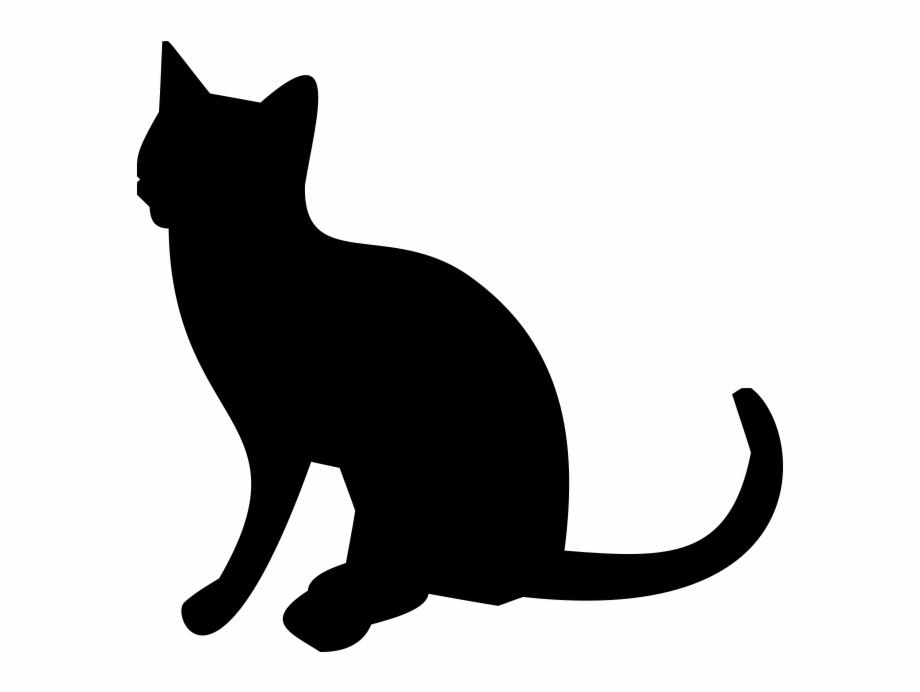 Silhouette Cat Png Transparent