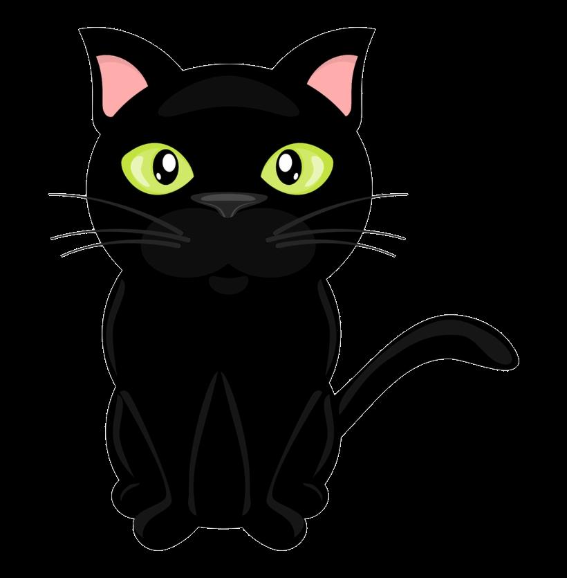 Black cat clip.