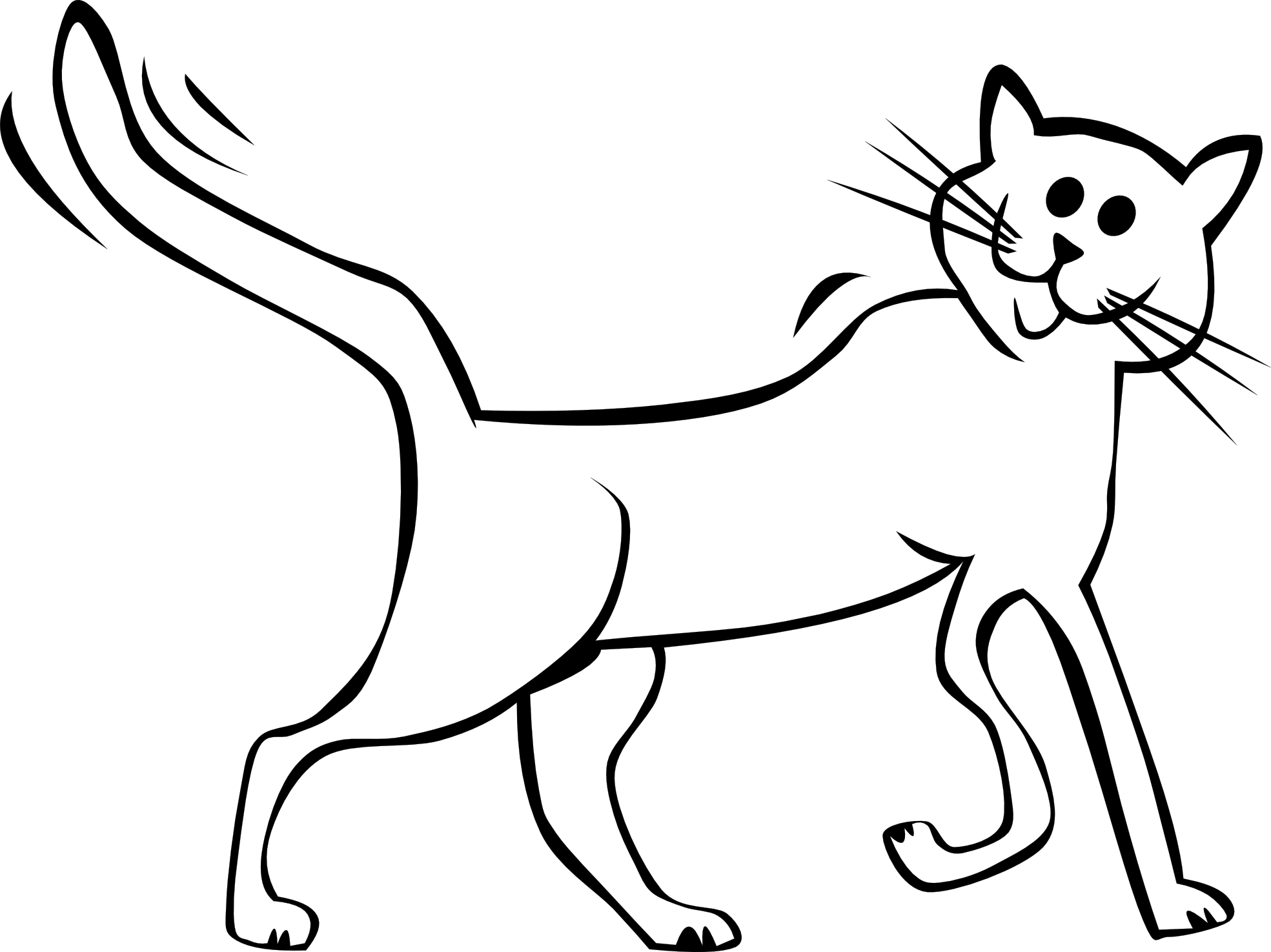 Free Cartoon Black And White Cat, Download Free Clip Art