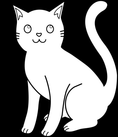 White cat clip.