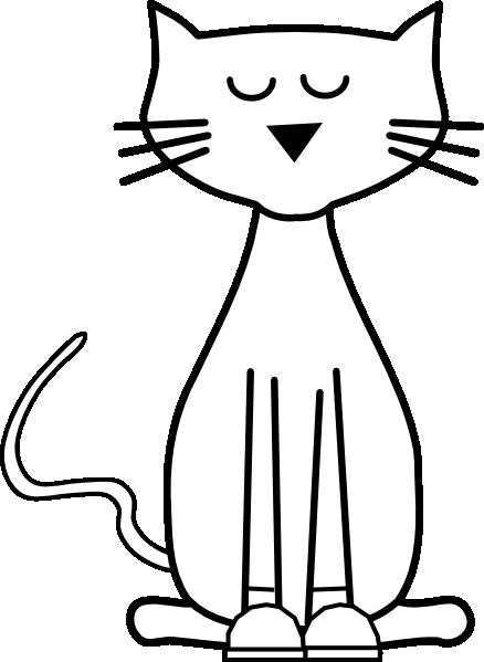 Cat outline cliparts.