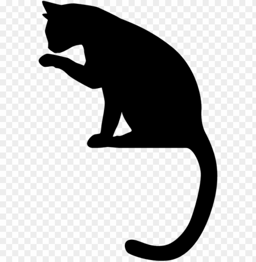 Sitting cat silhouette.
