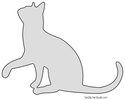 Cat Patterns, Stencils, Clip Art, and Silhouettes