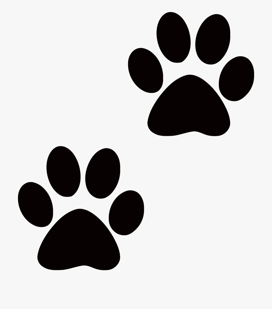 cat paws clipart paw print