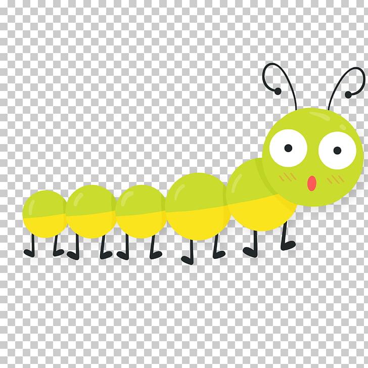 Cartoon caterpillar spring.