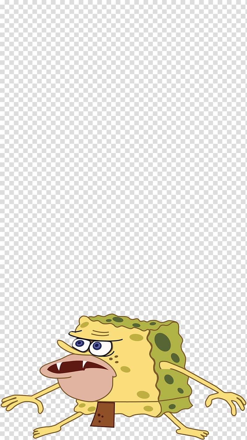 Patrick Star Caveman Internet meme, spongebob transparent