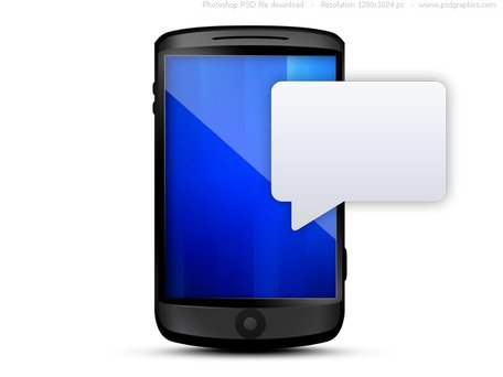 cell phone clipart texting