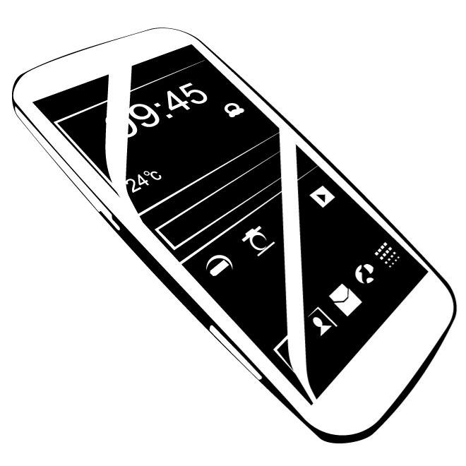 ANDROID MOBILE PHONE VECTOR
