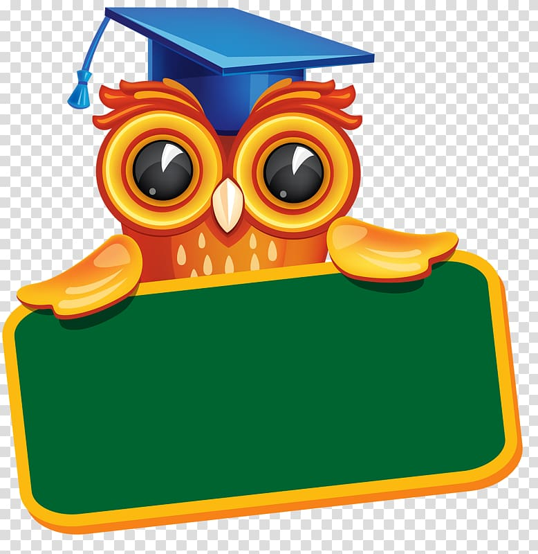 Owl wearing mortarboard.