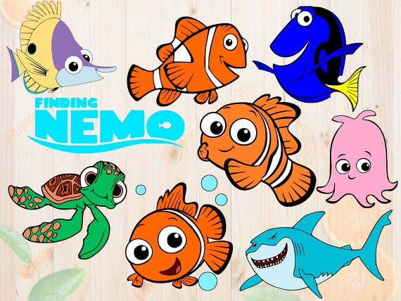 Finding nemo characters.